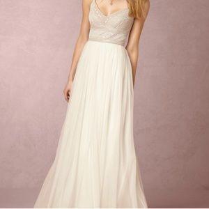 BHLDN Adrianna Papell A-Line Beaded Gown